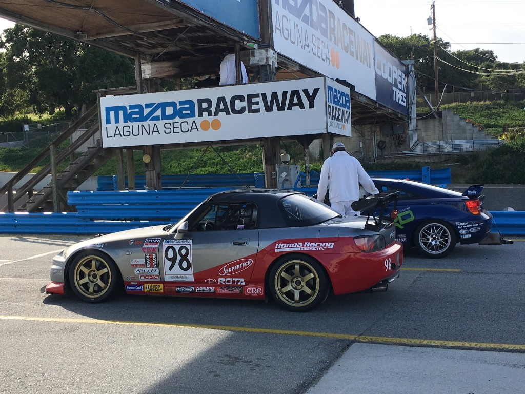Hartanto at the starter's stand for the S2000's first qualifying session