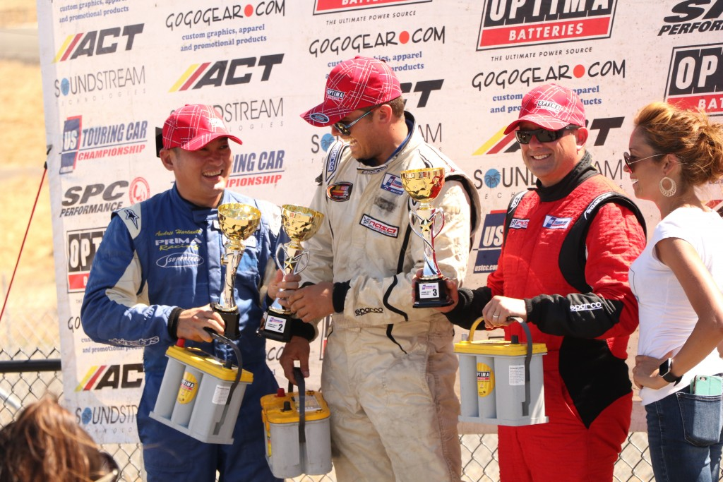 Despite the 2nd place finish, Hartanto was still all smiles, sharing the podium with Michael Shawhan and Gary Sheehan